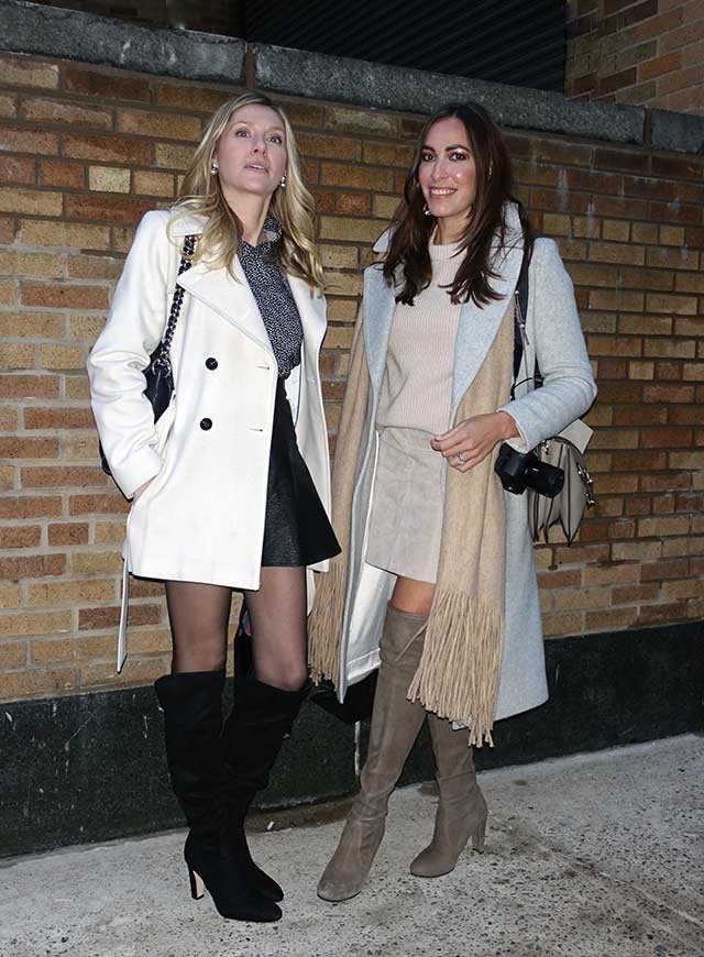 Other-the-knee boots with a shorter hem