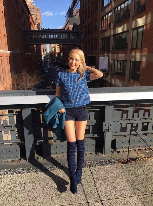 Liliya's outfit - shades of blue
