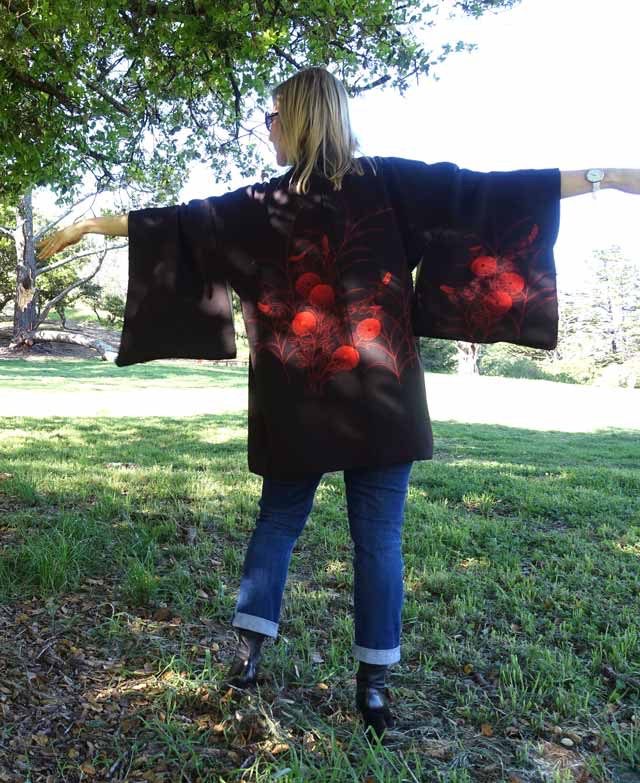 Back of the kimono