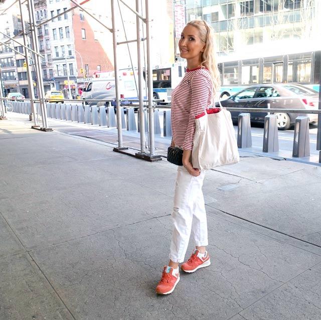 Liliya's Chanel / New Balance ootd