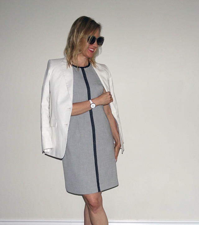 Spring work dress with blazer