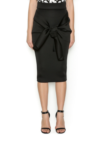 LAYANA AGUILAR Origami Fold Skirt in black