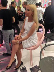 Liliya at the Karim Rashid reception
