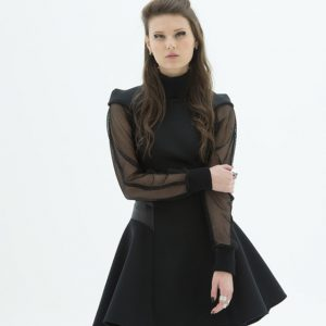 LAYANA AGUILAR fit and flare mini dress
