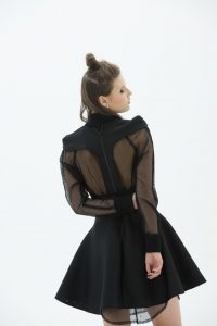 LAYANA AGUILAR racer back fit and flare mini dress