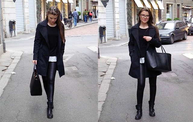 Best way to style leather leggings