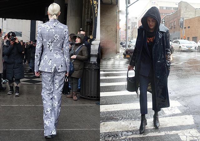 Pant suits at NYFW