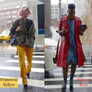 Pantone's primrose yellow and classic red