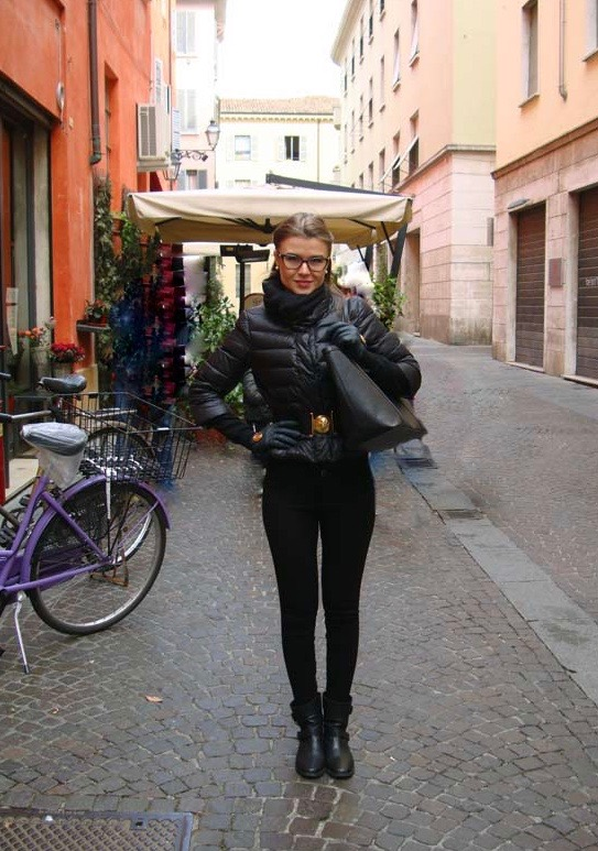 All-black OOTD in Parma