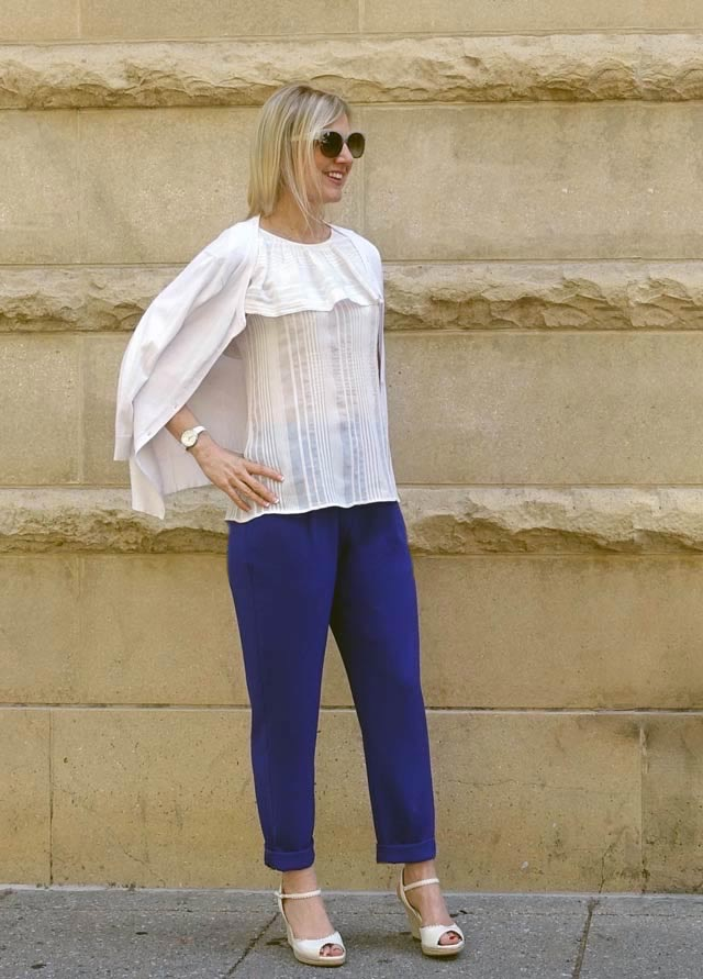 Newly cropped purple pants outfit
