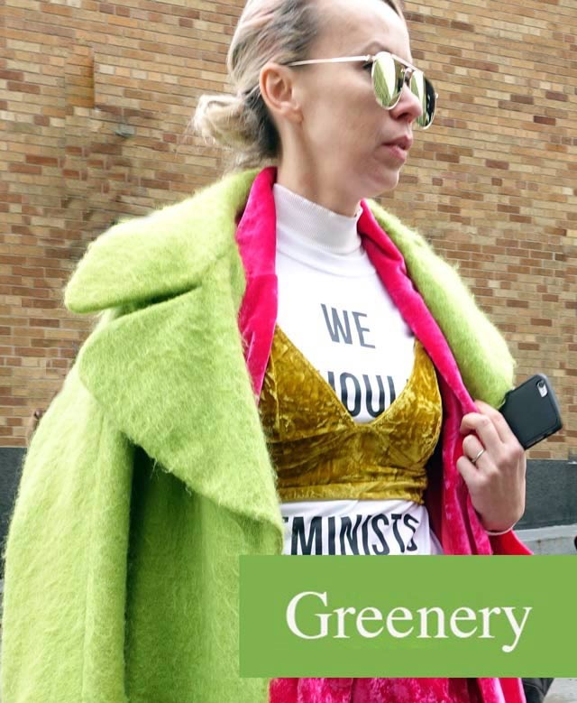 hottest fashion color of the year, greenery