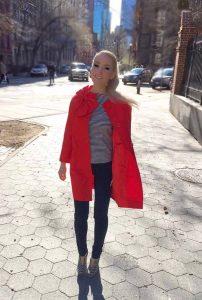 Liliya wears Kate Spade for color
