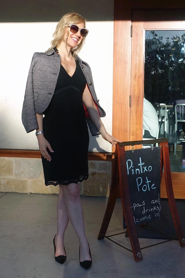Lacy LBD for date night in Los Gatos