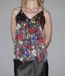 Close up of floral tank