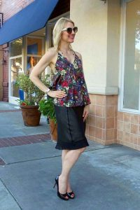 Floral tank date night outfit