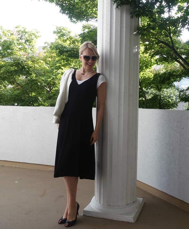 Asymmetrical dress for work