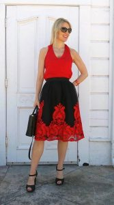 Wearing a puffy tulle skirt