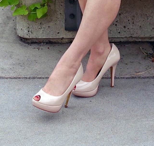 Beige (nudee-to-me!) pumps