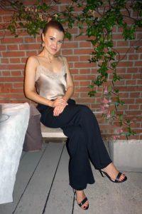 Elegant evening look with Flavio Castellani wide-legged pants