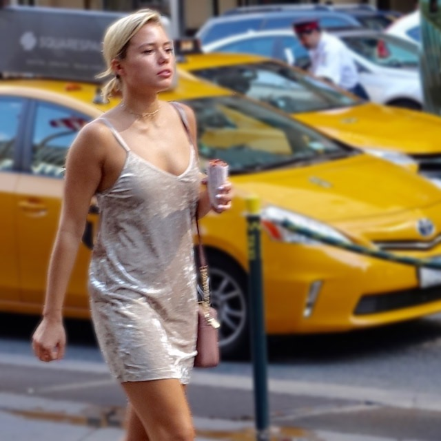 Nude dress in NYC