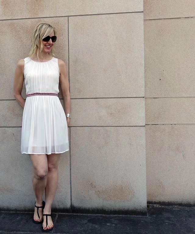 Pleated dress with an ancient Roman vibe
