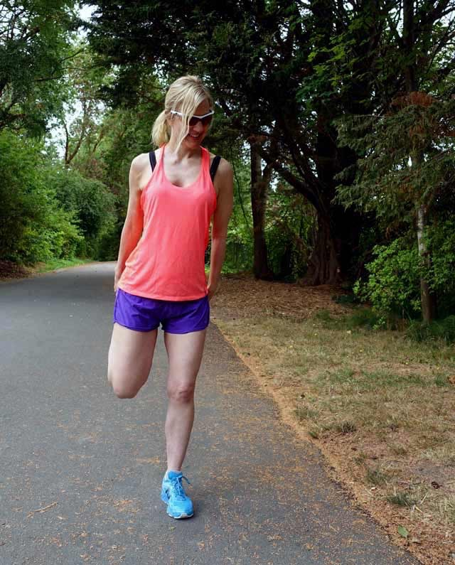 Bright running outfit