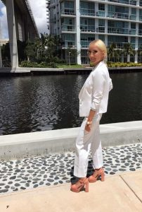 Minika Ko all white suit