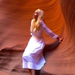 Liliya's ootd at Antelope Canyon