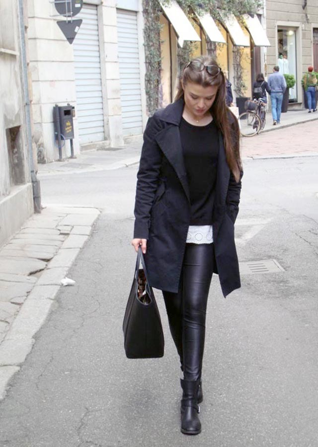 Best way to wear leather leggings